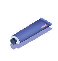 Paint tube isometric vector