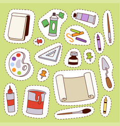 Painting art tools palette vector