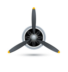 plane blade propeller airplane wood engine vector image