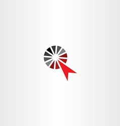 point arrow icon click symbol vector image