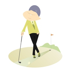 Proud golfer vector