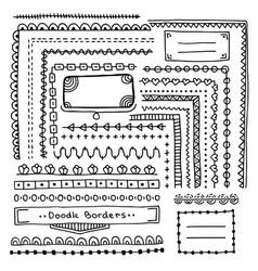 Set of hand drawn border vector
