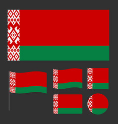simplified flag of belarus for a small size vector image
