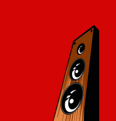 sound shop stylized image speaker system vector image