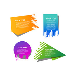 Speed origami banners set vector