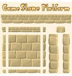stone platform for games vector image