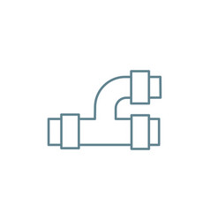 tee pipe linear icon concept tee pipe line vector image