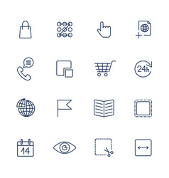 Thin line icon set icons for web apps programs vector