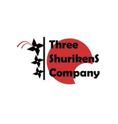 Three Shurikens Sign vector image