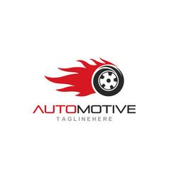 tires logo vector image