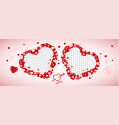 valentines day social media banner cover vector image