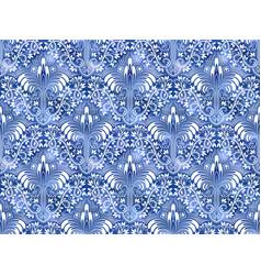 Vintage indigo dyed textile seamless pattern vector