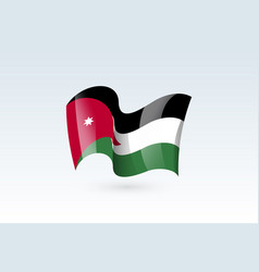 Waving flag icon national symbol fluttered in the vector