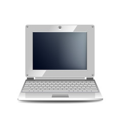 white netbook isolated on white vector image
