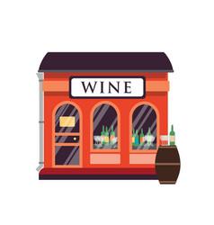 wine shop flat alcohol drinks vector image