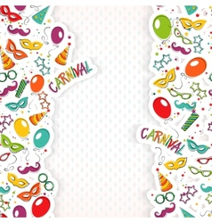 Carnival template vector image