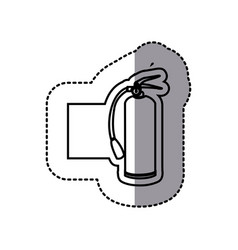 figure emblem sticker extinguisher icon vector image