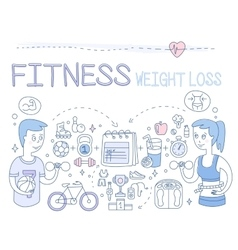 Fitness and Weight Loss vector image