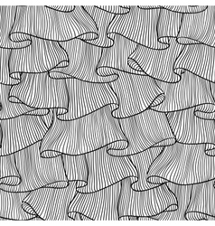 Sketch Lace frills seamless pattern vector image