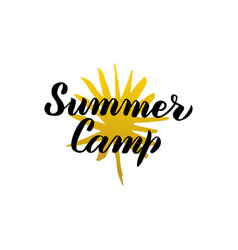 summer camp calligraphy vector image vector image