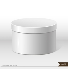 White packaging gift box on isolated background vector image vector image