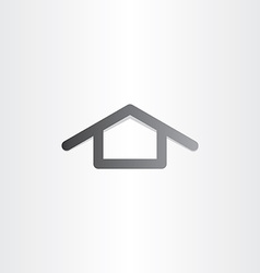 black house icon design vector image vector image
