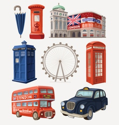 Famous London sights vector image