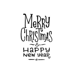 Merry Christmas Happy New Year Retro Poster vector image vector image