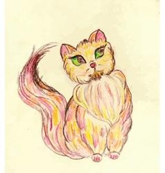 Persian Cat Sketch2 vector image