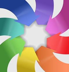 Abstract composition of color arrows vector image vector image