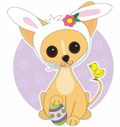 chihuahua easter vector image