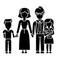 family son mother father daughter icon vector image vector image