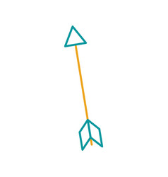 indian arrow isolated icon vector image vector image