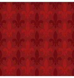 Red fleur de lis seamless pattern vector image