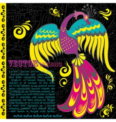 Retro grunge background with bird vector image vector image