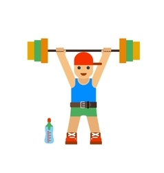 Sportsman barbell vector image vector image
