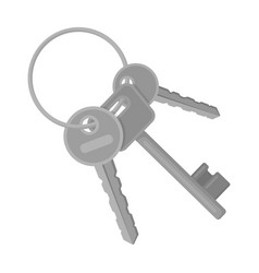 A bunch of keys from the cells in the prison keys vector