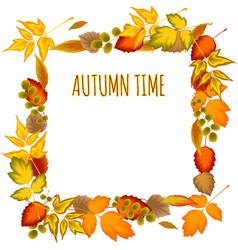 Autumn leaves Decorative frame vector image