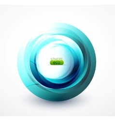 blue abstract swirl vector image vector image