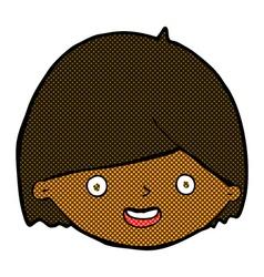 comic cartoon happy face vector image vector image