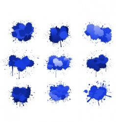 ink blobs vector image vector image