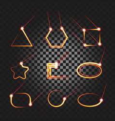 laser cutting or welding trace transparent effect vector image