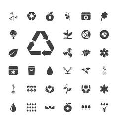 33 eco icons vector
