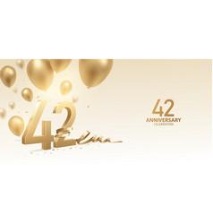 42nd anniversary celebration background vector image