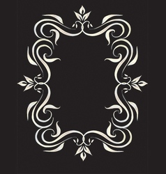 Abstract frame - decorative floral frame vector