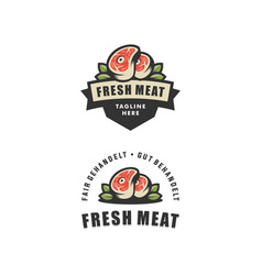 abstract fresh meat design template vector image