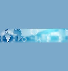 Abstract technology modern corporate header banner vector