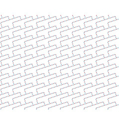 Airmail envelope pattern vector image