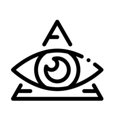 All-seeing eye icon outline vector