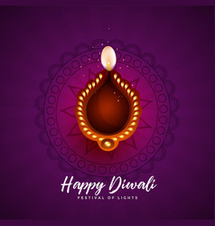 Artistic background for happy diwali festival vector